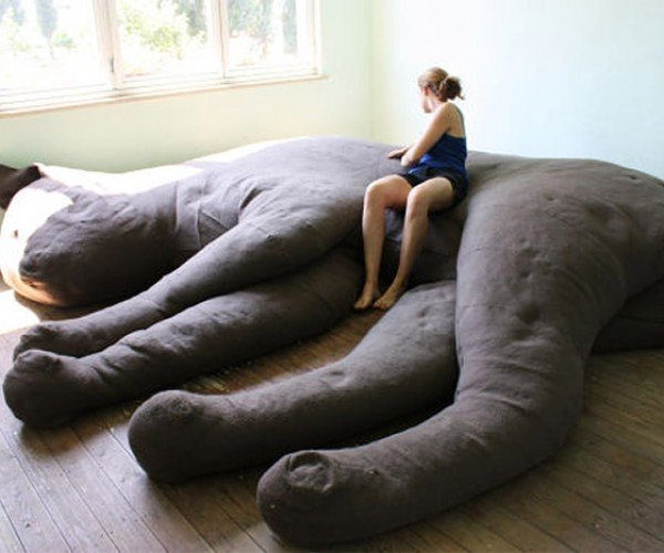 Giant Cat Couch Lets You Sit on Your Cat's Lap