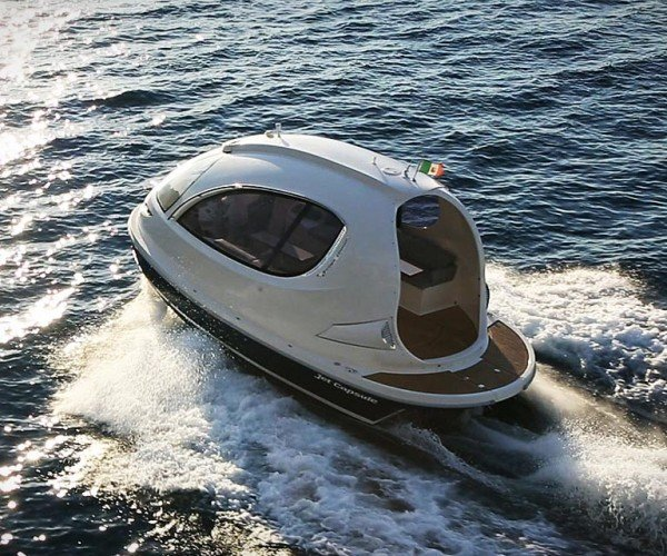 Jet Capsule Boat Looks Ready to Take off into Space