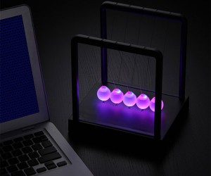 LED Light-up Newton's Cradle: Clickity-Clackity-Blinkity