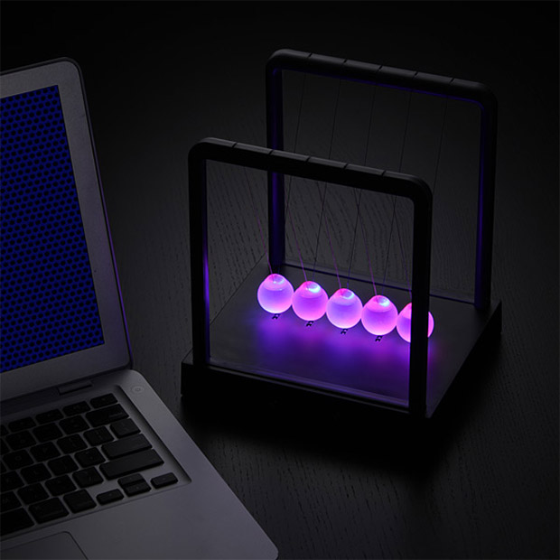 Led Light Up Newton S Cradle Clickity Clackity Blinkity