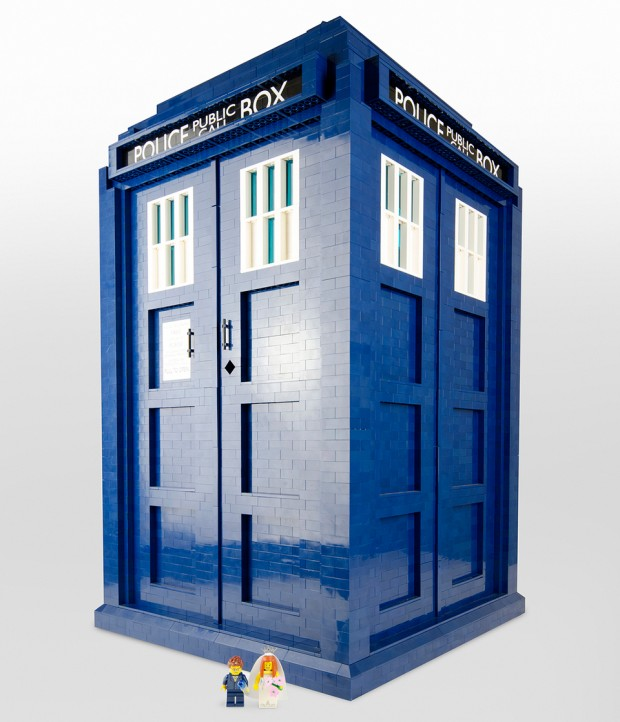 lego tardis doctor who 1 3 scale by shelly timson 620x722