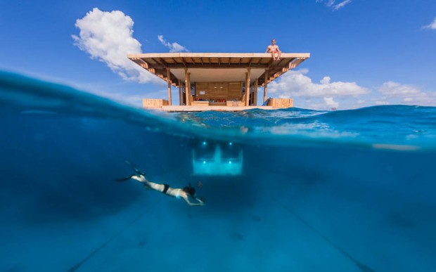 manta resort africa underwater hotel photo