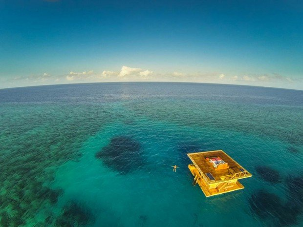 manta resort africa underwater hotel designboom above photo