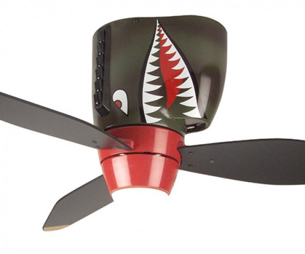 Shark Warplane Ceiling Fan, Stay on Target