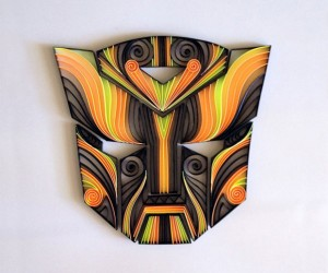paper quilling autobot 300x250