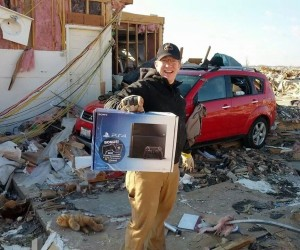 Tornado Wrecks This Guy's Home, but Don't Worry, His PS4 Is Fine