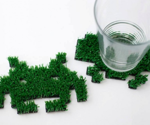 Grass Space Invaders Coasters: The Grass Is Always Greener on the Other Side of Invasion