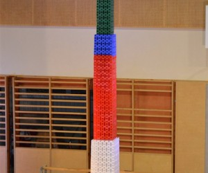 World Record Tallest Domino Tower Toppled