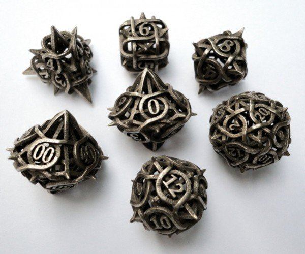 3D Printed Thorn Dice: For Literal Critical Hits