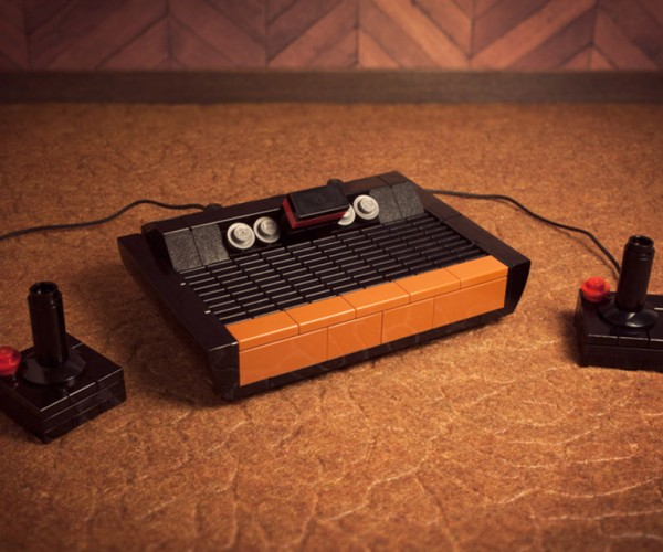 Mini Atari 2600 and Commodore 64 LEGO Kits: 8-Bit Bricks