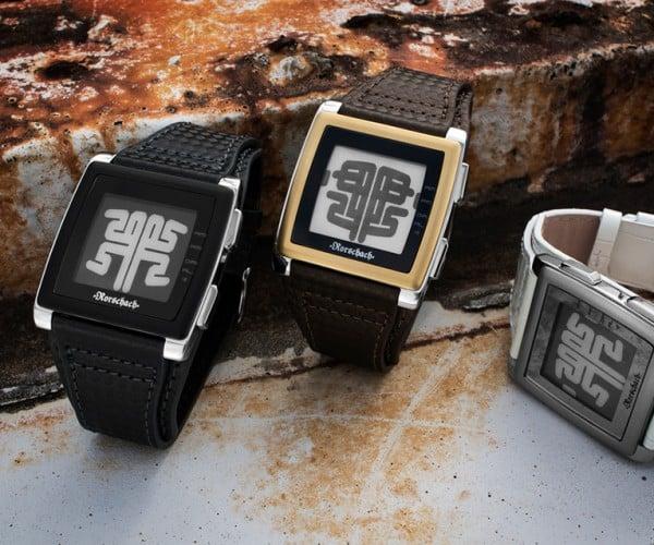 Kisai Rorschach ePaper Watch: Blot O'clock