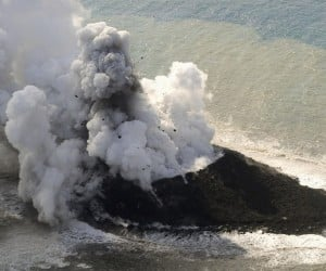 New Volcanic Island Rises out of the Ocean Near Japan