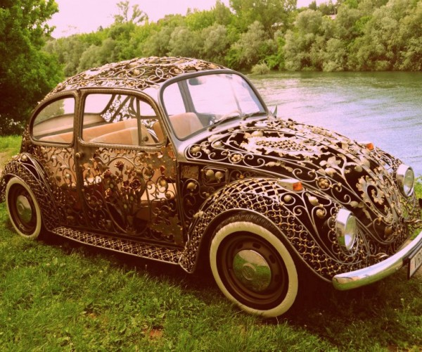 Wrought Iron Volkswagen Beetle: That's One Classy Chassis
