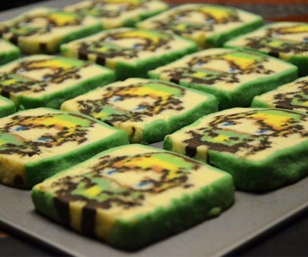 Pixelated Zelda Cookies: 8-Bit Bites
