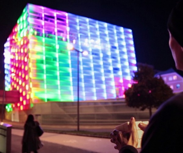 Artist Turns a Building into a Giant Rubik's Cube