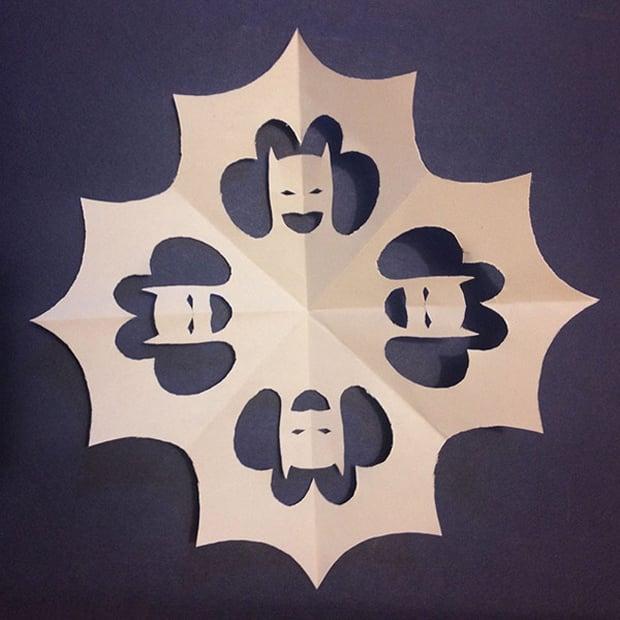 DIY Superhero Snowflakes