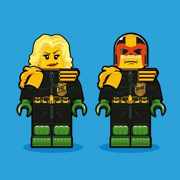 Illustrations of LEGO Minifigs