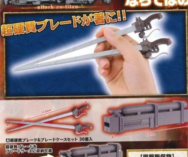Attack on Titan Chopsticks Let You Maneuver Through Food Easily