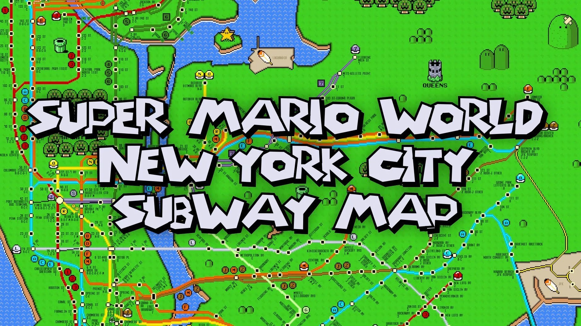 Super mario new york city subway map underworld 1 1 technabob gumiabroncs Gallery