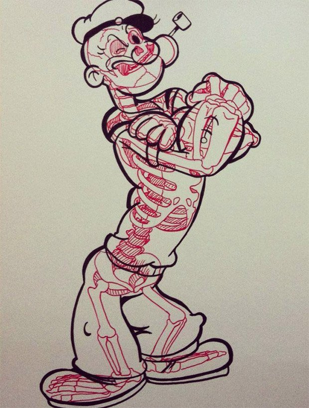chris_panda_popeye_skeleton