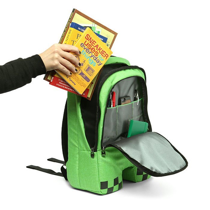 minecraft creeper backpack unfortunately won�t blow up