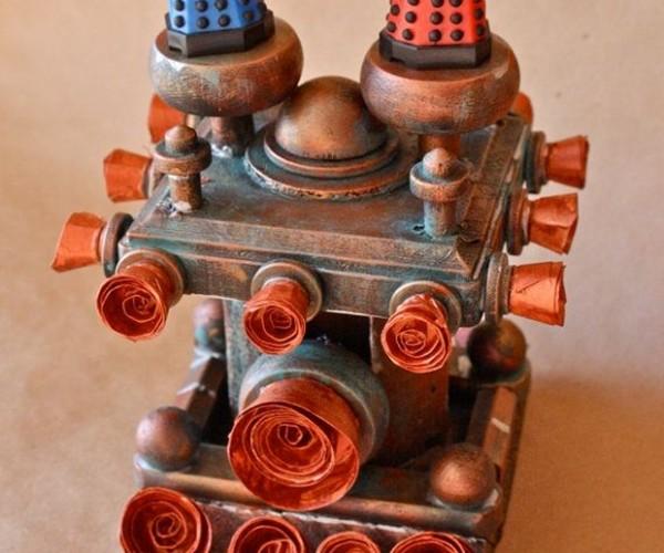 Steampunk Dalek Cake Toppers: Wedding Cake! Wedding Cake!
