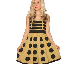 Gold Dalek Dress Makes Cosplay Easy