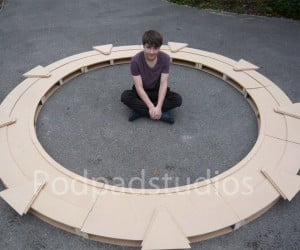 Life-size DIY Stargate Generates No Event Horizon, Still Awesome