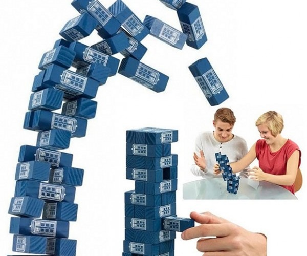 Doctor Who Tumbling TARDIS Tower Game is TARDIS Jenga
