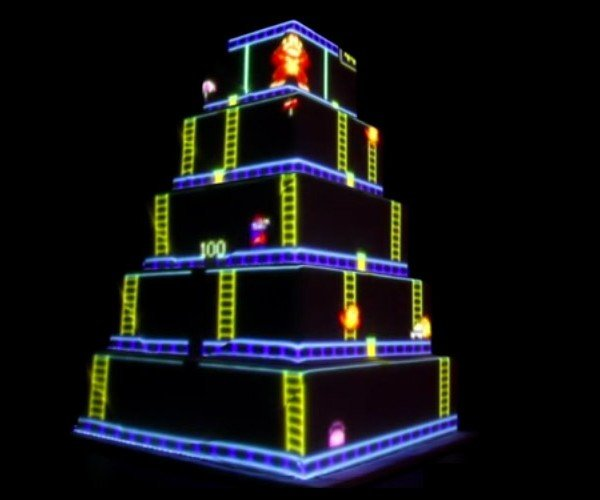 Animated Donkey Kong Wedding Cake: How High Can You Eat?