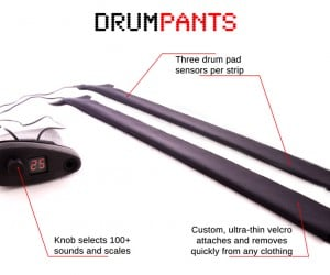 DrumPants Wearable Drum Pads: Your Body is a Drummer's Land