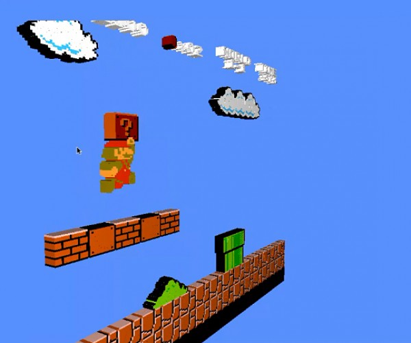 NES Emulator Voxel Engine Renders Games in 3D:  Z Scroller