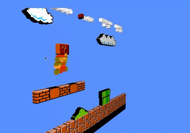 NES Emulator Voxel Engine Renders Games in 3D: Z Scroller