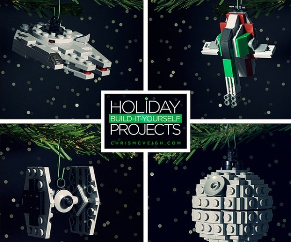 Great Geeky DIY LEGO Holiday Ornaments: Brick the Halls