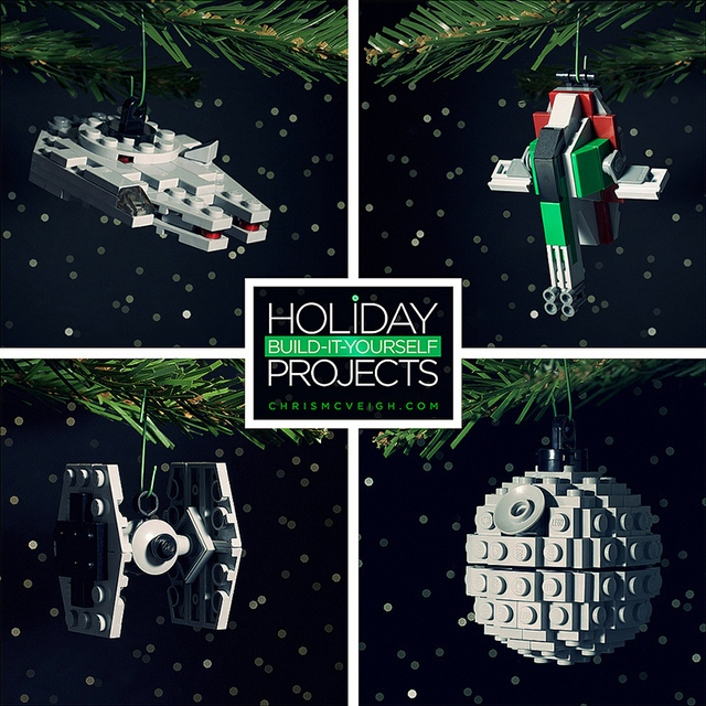 Great geeky diy lego holiday ornaments brick the halls technabob check out these awesome diy lego ornaments from lego builder chris mcveigh he has designed a fantastic set of original lego holiday ornaments that we can solutioingenieria Images