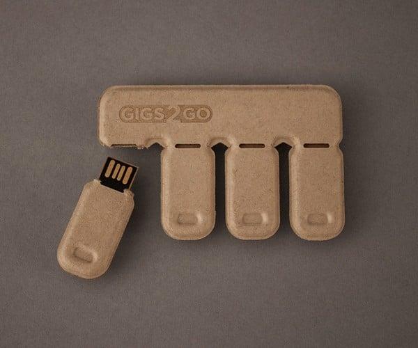 Gigs 2 Go Tear-Off USB Drives Now on Kickstarter: Pledge 2 Get