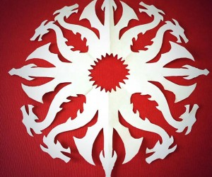 Game of Thrones House Sigil Snowflakes: Paper Cuts are Coming