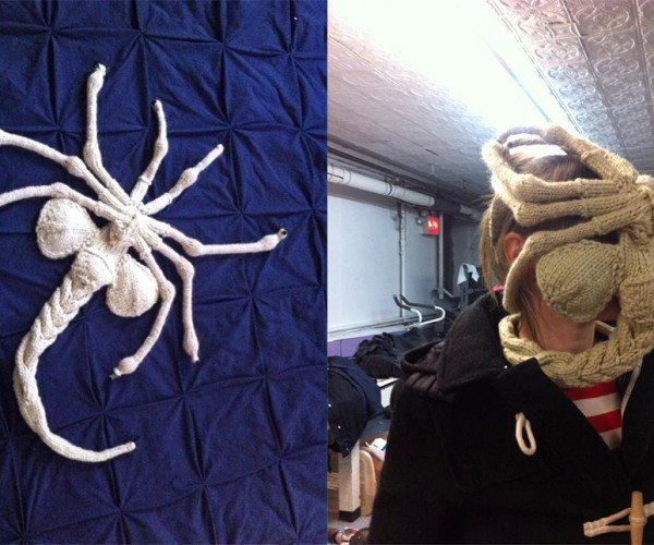 Knit Alien Facehugger Will Keep You Warm. And Screaming.
