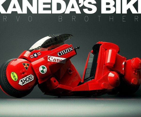 LEGO Akira Kaneda's Bike Has Twin Brick Rotor Drives on Each Wheel
