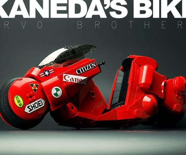 LEGO Akira Kaneda's Bike Has Twin Brick Rotor Drives on Each Wheel