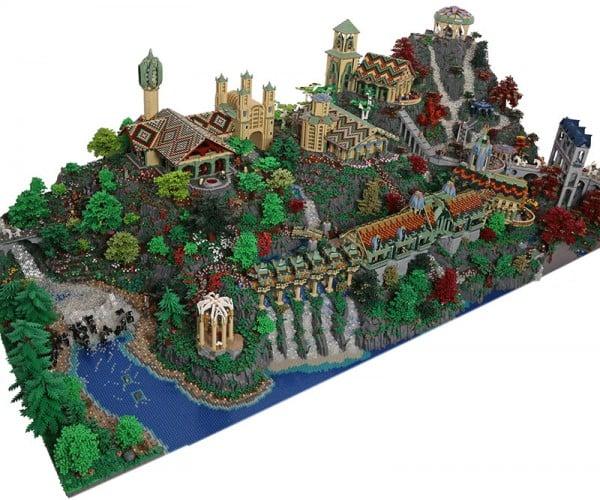 Gigantic LEGO Rivendell Made from 200,000+ Bricks