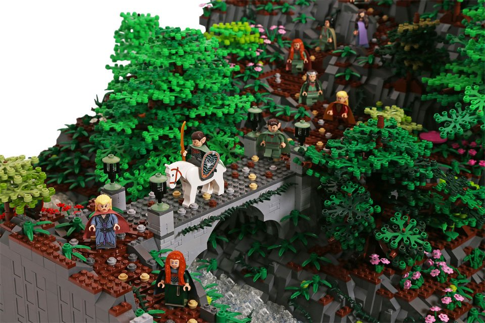 Gigantic LEGO Rivendell Made from 200,000+ Bricks - Technabob
