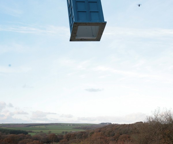 Life-size Flying TARDIS UAV: Propellers on the Outside