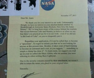 NASA's Hilarious Response to Mentos and Coke Rocket Proposal