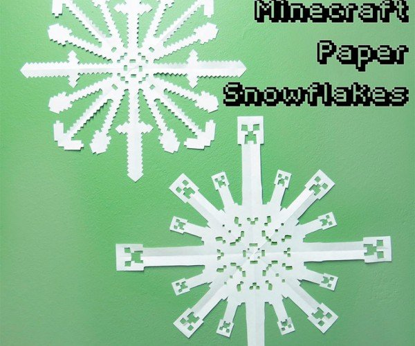 Minecraft Paper Snowflakes Will Creep up Your Christmas