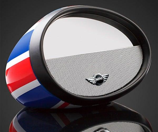 Mirror Boombox is a Bluetooth Speaker in a Mini Cooper Mirror