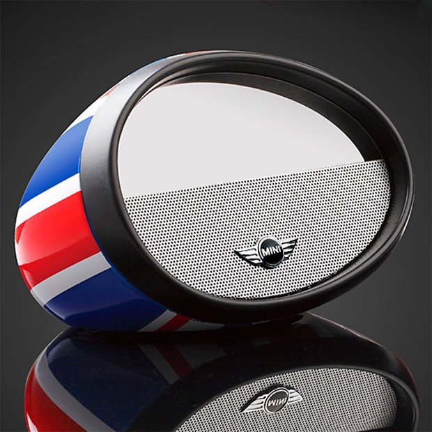 Mirror Boombox Is A Bluetooth Speaker In A Mini Cooper Mirror