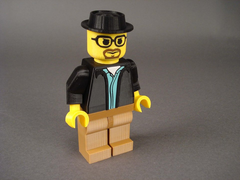 3D Printed Jumbo LEGO Minifigs: Children of the Corn Starch - Technabob