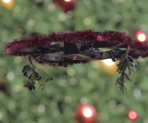 Mistletoe Drone: Kiss! Or Else.