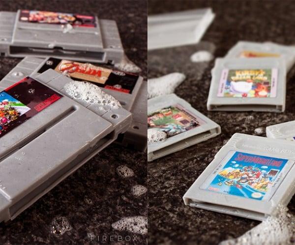 SNES and Game Boy Cartridge Soaps: In Bathroom, Cartridge Clean You